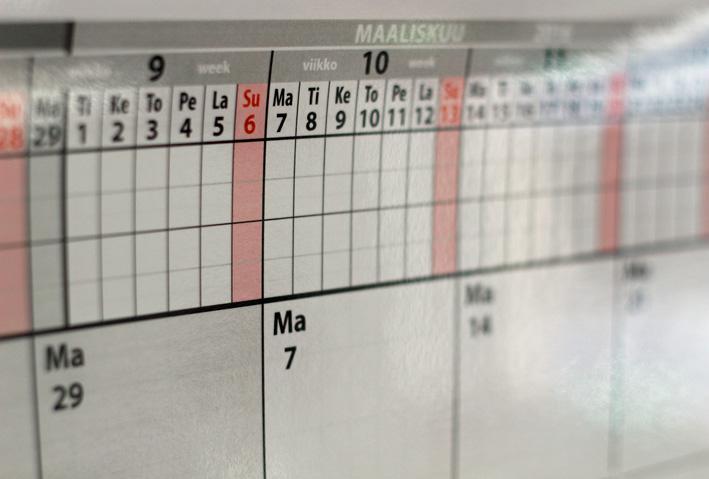 tyhjä kalenteri
